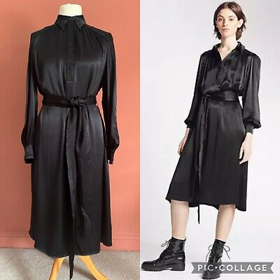 AU91.95 • Buy ARCHIVE BY ALEXA CHUNG For M&S - The Portland Dress- UK12 NEW Black Oversized