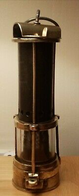 £215 • Buy Miners Lamp By H. M Edwards Of Wakefield Yorkshire, Rare Example