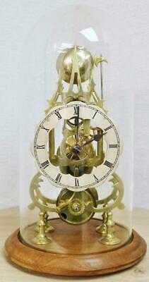 £1195 • Buy Antique English 8 Day Single Fusee Passing Strike Skeleton Clock With Glass Dome