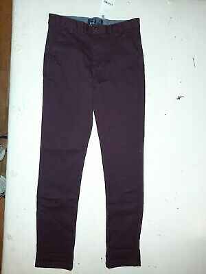 £0.99 • Buy Next Boy's Chinos. Size 10.burgundy Colour Brand New With Tags