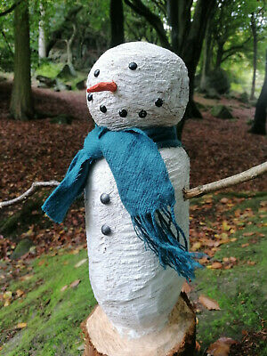 £40 • Buy Chainsaw Carved Snowman Sculpture 60cm Tall.
