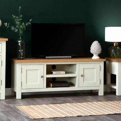 £110 • Buy Ex Display Extra Large TV Stand Unit Grey Oak Top MDF New Living Room Furniture