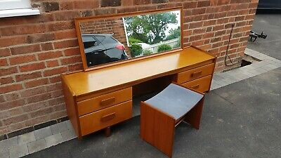 £110 • Buy Mid Century White & Newton Teak Dressing Table & Stool (local Delivery Possible)