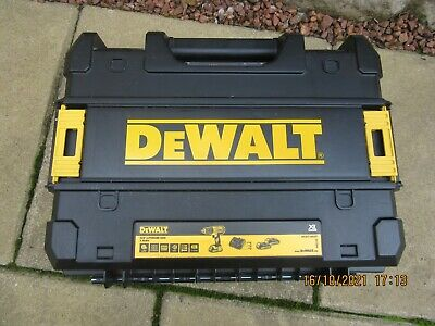 £46 • Buy Dewalt 18v Xr Li-ion Cordless Drill With Two Batteries ,charger And Case
