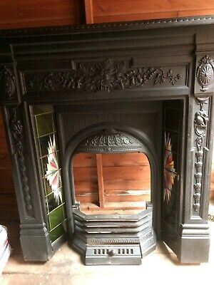 £1 • Buy Cast Iron Fireplace / Fire Surround / Victorian Style