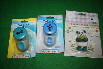 £8.99 • Buy 2 XCut Border System Punches Butterflies & Flower& Panda Just For U Cling Stamps