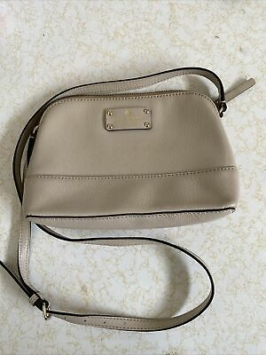 AU40.50 • Buy Kate Spade Taupe Stone Nude Coloured Shoulder Bag Small Womens Adjustable Strap