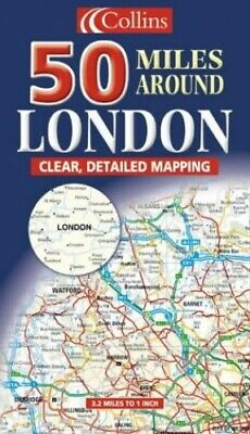 £7.99 • Buy 50 Miles Around London (Map) Sheet Map, Folded Book The Cheap Fast Free Post