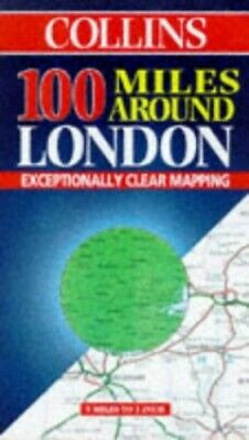 £9.41 • Buy 100 Miles Around London By Harper Collins Publishers Sheet Map Book The Cheap