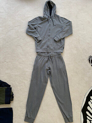 £55 • Buy Authentic ARMANI JEANS Full Tracksuit Top/Bottoms Size L, Grey, Relax Fit