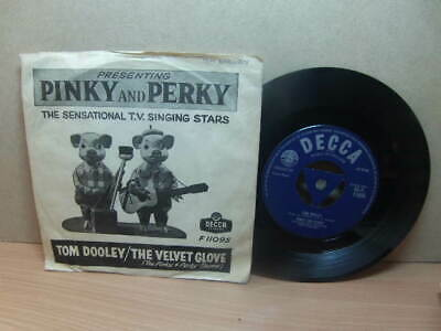 """£4.99 • Buy Pinky And Perky – Tom Dooley 1958 7"""" Decca F 11095 In Early Picture Cover"""