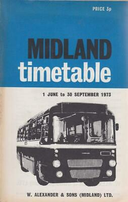 £6.99 • Buy Midland Scottish Smt Bus Timetable Book Jun 1973 With Route Map