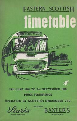 £6.99 • Buy Eastern Scottish Smt Bus Timetable Book Jun 1966 With Route Map