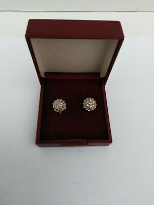£66 • Buy  9ct Yellow Gold Diamond Round Cluster Stud Earrings