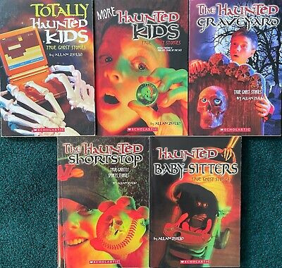 £6.50 • Buy Lot Of 5  Haunted  True Ghost Stories ~  Children's Chapter Books By Allan Zullo