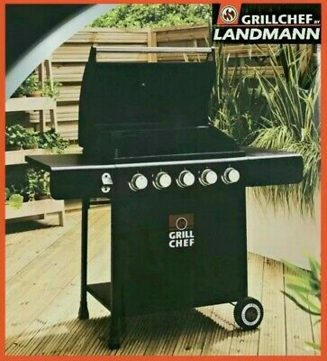 £249.85 • Buy 🔥LandMann Grill Chef 5 Burner Gas BBQ + Cover 🔥 Garden BBQ New Fast Delivery🚚