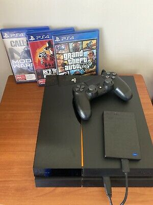 AU246 • Buy Ps4 With Games+ Black Controller +1tb External Storage Seagate