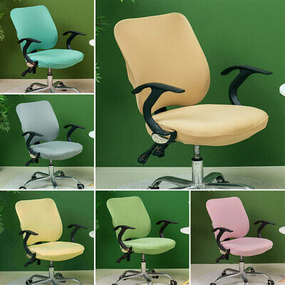 AU13.49 • Buy Elastic Office Chair Cover Split Protector Seat Slipcover Stretch Removable AU