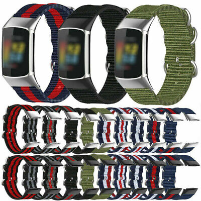 AU7.21 • Buy For Fitbit Charge 5 Strap Sport Nylon Replacement Watch Band & Metal Connector