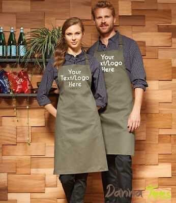 £9.99 • Buy Personalised Custom Printed Apron With Pocket Baking Cooking Business Logo Text