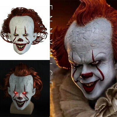 £22.98 • Buy Pennywise Scary Clown Latex Mask Creepy Halloween Costume Props Face Mask 2021
