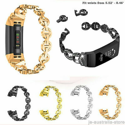 AU20.99 • Buy Women's  Watch Band Strap  Metal Wrist Band For Fitbit Charge 2 3 4
