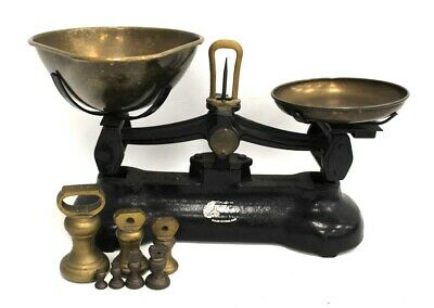 £9.99 • Buy Libra Scale Co LIBRASCO KITCHEN BALANCE SCALES BRASS CAST IRON With Weights -B56