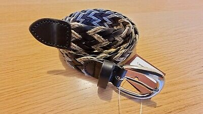£45 • Buy Anderson's Belt, Weaved Black Plaited Leather/Cord, Mens, NWT, Size 34UK / 90EU