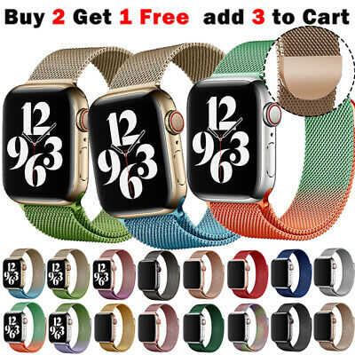 AU11.99 • Buy For Apple Watch Band Series 7 6 5 4 3 2 1 IWatch Milanese Stainless Steel Strap