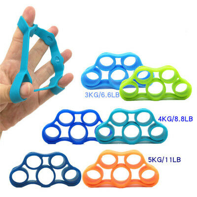 AU3.50 • Buy Hand Fingers Strength Exerciser Trainer Strengthener Grip Resistance Band New.DB