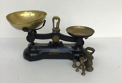 £7.50 • Buy Vintage Boots Chemist Cast Iron Weighing Scales Plus Weights X 7 Unboxed  856ZS