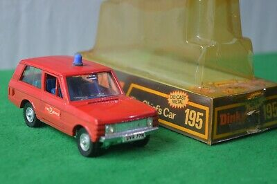 £19.99 • Buy Dinky Toys 195 Range Rover Fire Chiefs Car /  Original Vintage Model Boxed
