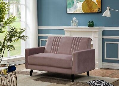 £259 • Buy Pink Velvet Sofa 2 Seater - FREE NEXT DAY DELIVERY - Riva Range, Quick Set-up