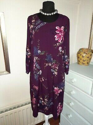 £0.99 • Buy  Joules Alison Woven Dress Tunic In Harvest Plum Floral - UK 14 - NEW -