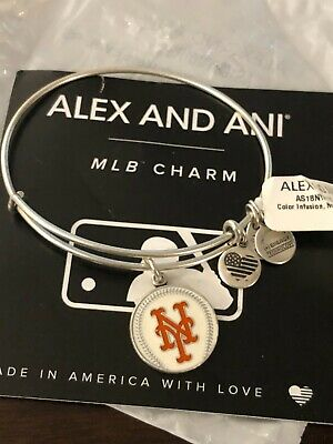 AU6.68 • Buy ALEX AND ANI  COLOR INFUSION NEW YORK METS  MLB Charm Bracelet SILVER ~ NWT