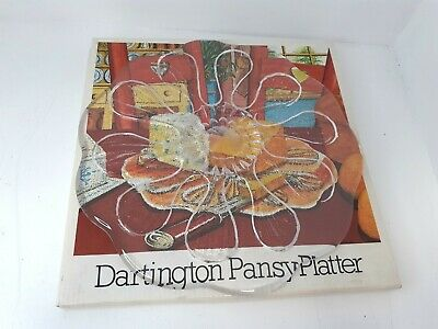 £4.99 • Buy Darlington Pansy Platter FT280 Box Glass Floral Handmade Pre-owned