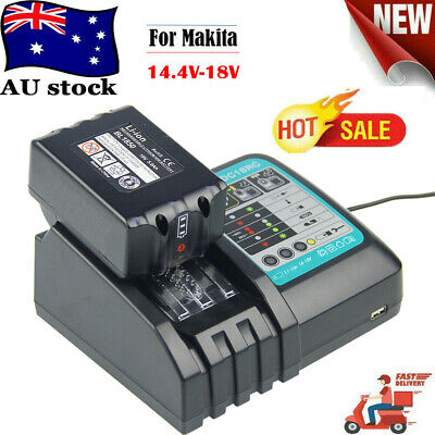 AU33.39 • Buy Makita DC18RC DC18RD 18V Lithium-Ion Rapid Tool 1/2 Battery Charger Set Newest