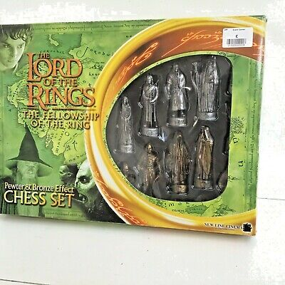 £10 • Buy Lord Of The Rings Chess Set Fellowship Of The Ring Bronze & Pewter  866JT