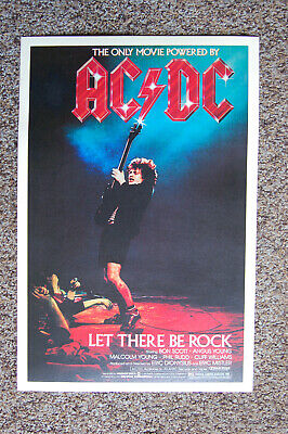 $5.50 • Buy AC/DC Let There Be Rock 1982 Concert Movie Poster #1--