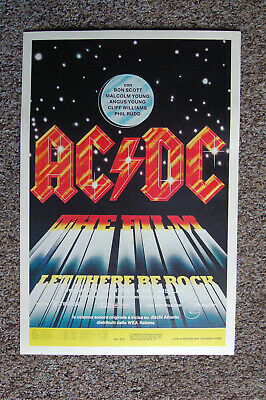 $4 • Buy AC/DC Let There Be Rock 1982 Concert Movie Poster #2--