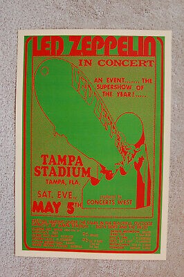 $4 • Buy Led Zeppelin Concert Tour Poster 1973 Tampa --