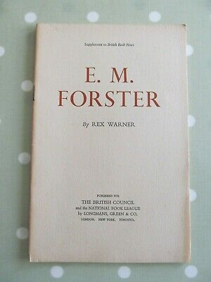 £5 • Buy E M Forster By Rex Warner Supplement To British Book News