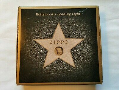 View Details Zippo Lighter - Hollywood's Leading Light - 2001 Collectable Of The Year - A-20 • 100£