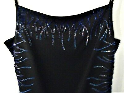 £10 • Buy Beautiful Black With Sparkle Bodycon Style Dress, Ronald Joyce (After Six)14