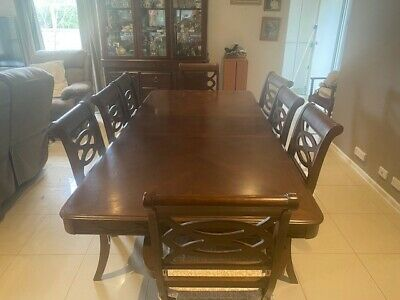 AU340 • Buy 8 Seater Dining Table And Chairs. Like New