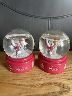 £5 • Buy Me To You Christmas Snow Globes Decorations X2