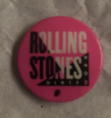 £0.99 • Buy Rolling Stones Dirty Work Cancelled Tour Original Promotional Metal Badge