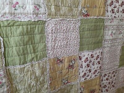 £20 • Buy Patchwork Quilt King Size 104 In Square HIDDEN JEMS LINEN Lytham St Anne