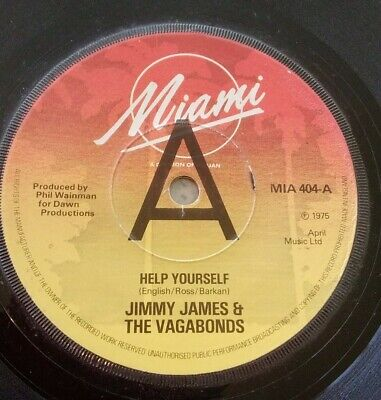 £4.50 • Buy Vinyl: 7  Promo Record JIMMY JAMES & THE VAGABONDS, HELP YOURSELF/WHY 1975 MIAMI