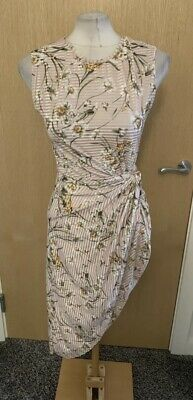 £5 • Buy Ladies Pink And Yellow Floral Design Dressy Summer Look Dress Size Large BNWT